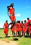Saltos tradicionales africanos Foto de archivo
