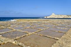 Saltpans в Xwejni, Gozo - Мальта Стоковая Фотография RF