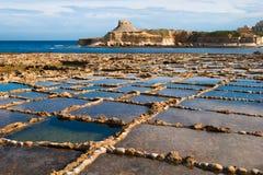 Saltpans 2 de Gozo images libres de droits