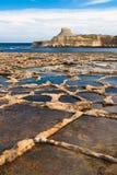 Saltpans di Gozo Immagine Stock