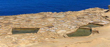 Saltpans on Gozo. The saltpans are still in use Stock Image