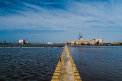 Saltpans of Trapani Royalty Free Stock Photography