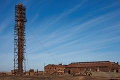 Saltpeter Humberstone εργοστάσια Στοκ Φωτογραφία