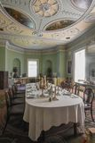 Saltram House Dinning Room In Plymouth Devon Royalty Free Stock Image