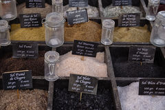 Salts. A collection of salts on a market stall Stock Images