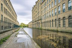 Salts mill and canal Royalty Free Stock Image