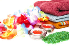 Salts for spa towels Royalty Free Stock Photography