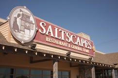 Saltscapes restauracja Obrazy Stock