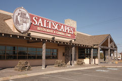 Saltscapes Restaurant. Truro, Canada - September 25, 2014: Saltscapes restaurant storefront. Saltscapes Restaurant and General Store is owned by Pacmill Stock Photos