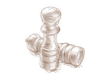 Saltshaker and peppermill Royalty Free Stock Photography