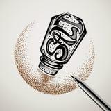 Saltshaker typography logo design Royalty Free Stock Photo