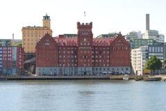 Saltsjoqvarn. The building Saltsjoqvarn in Stockholm, Sweden stock photos