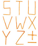 saltstick des lettres s à z Photos libres de droits
