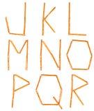 Saltstick segna J - la R con lettere Fotografia Stock Libera da Diritti