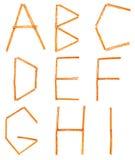 Saltstick segna A - la I con lettere Immagine Stock Libera da Diritti