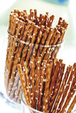 Saltsticks in glass Royalty Free Stock Images
