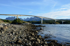 Saltstraumen bridge in Norway Royalty Free Stock Images