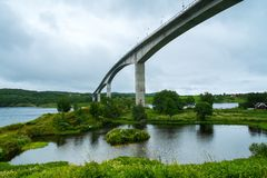 Saltstraumen Bridge Stock Photography