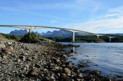 Saltstraumen bro i Norge Royaltyfria Bilder