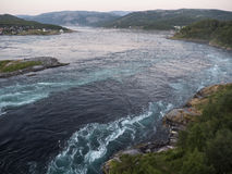 Saltstraumen in night Stock Photos