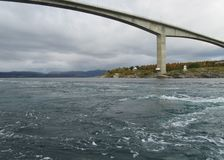 Saltstraumen Norwegia Zdjęcia Royalty Free