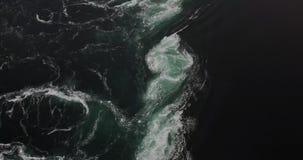 Saltstraumen sea whirlpools stock footage