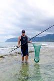 Saltwater Fishing Oahu Hawaii Stock Photography