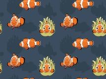 Saltwater Ocellaris Clownfish tła Bezszwowa tapeta Obrazy Royalty Free