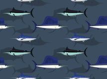 Saltwater Sailfish tła Bezszwowa tapeta Zdjęcie Royalty Free