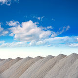 Saltworks in Alicante province Santa Pola Stock Photography