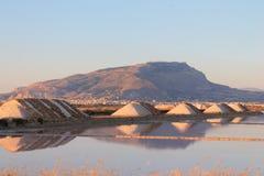 Saltworks av Trapany i Italien royaltyfri fotografi