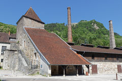 Saltworks buildings in Salins-Les-Bains Stock Photos