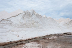 Saltworks di es Trenc in Mallorca, Spagna Fotografie Stock
