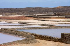 Saltworks lanzarote Foto de Stock Royalty Free