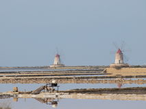 Saltworks near Marsala, Sicily, Italy Stock Image