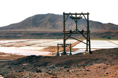 Saltworks Pedra de Lume. Pedra de Lume island of Sal Cape Verde Royalty Free Stock Photo