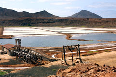 Saltworks Pedra de Lume. Pedra de Lume island of Sal Cape Verde Stock Photo