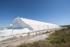 Saltworks in Santa Pola Royalty Free Stock Photography