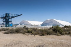 Saltworks in Santa Pola Stock Photography