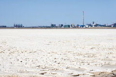 Saltworks scenery Royalty Free Stock Photo