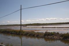 Saltworks in Ses Salinas. In Ibiza Stock Photo