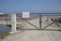 Saltworks in Ses Salinas. In Ibiza Royalty Free Stock Image