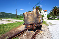 Saltworks in Ston. Croatia. Old runabout in saltworks in Ston. Croatia Royalty Free Stock Photos