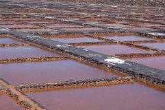 Saltworks su Fuerteventura Immagine Stock Libera da Diritti