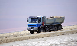 Saltworks and truck: Saline-de-Giraud, Camargue Royalty Free Stock Images