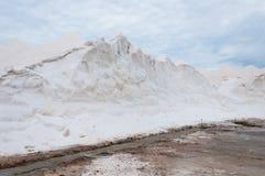 Saltworks van S Trenc in Mallorca, Spanje Stock Foto's