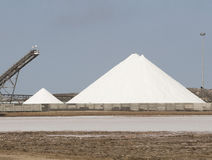 Saltworks at Walvisbay Stock Photo