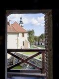 Saltworksslottsikt från torn Arkivbilder