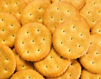 Salty biscuits cracker Stock Photo