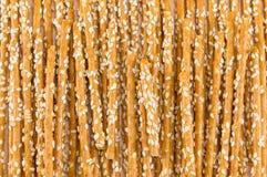 Salty breadsticks background pattern Stock Photos